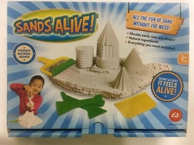 SANDS ALIVE LIKE KINETIC SAND OF CRAZSAND NO MESS SAFE KIDS GREAT TOY WHITE 680g