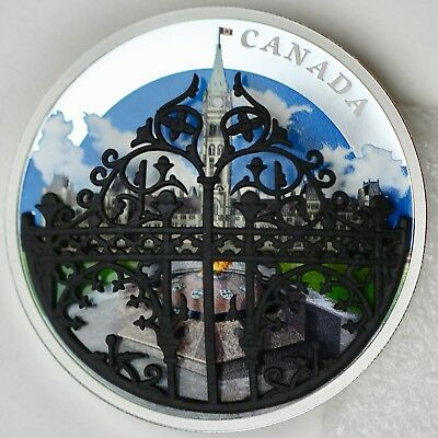2018 $30 The Queen's Gate: Formal Entrance to Parliament Hill 2 oz Pure Silver