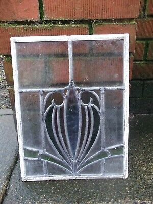 Art nouveau style stained coloured glass window - Lead lined