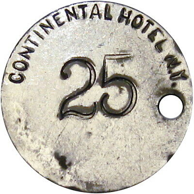 1880's New York City Good For Token Continental Hotel