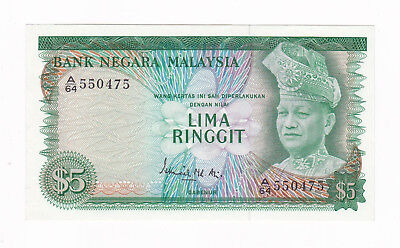 Malaysia 2Nd Series 5 Ringgit Banknote [About Uncirculated Condition] [F/ship]