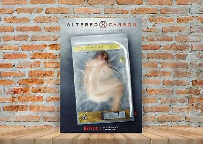 Altered Carbon TV Show Poster or Canvas Art Print - A3 A4 Sizes