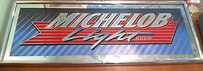 Vintage Bar Advertising Mirror Sign Michelob Light Beer