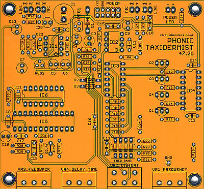 circuitbenders PHONIC TAXIDERMIST 47.2b - Maplin Voice Vandal clone DIY PCB