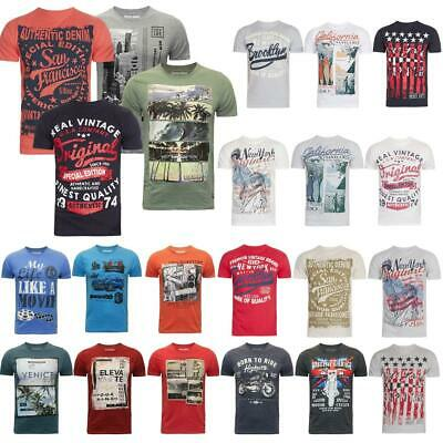 Mens T Shirt River Road Cotton Crew Neck Graphic Printed British Casual Top