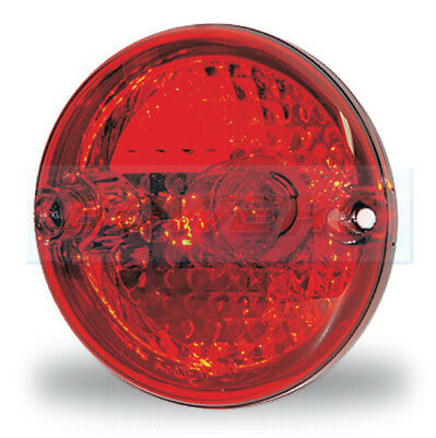 ASPOCK ROUNDPOINT REAR 95mm ROUND RED STOP/TAIL LIGHT LAMP BRIAN JAMES TRAILER
