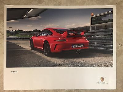 Porsche 911 GT3 Showroom Advertising Sales Poster RARE!! Awesome L@@K