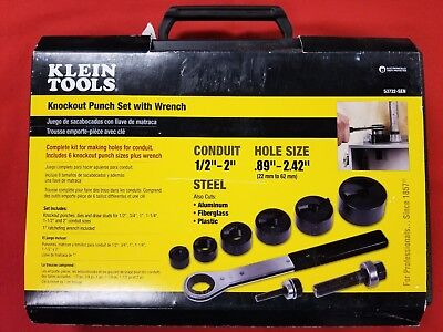 Klein Tools Knockout Punch Set with Wrench
