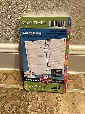 Kathy Davis 2018 Planner Refill 2 Pages Per Week Floral Size 3 Day-Timer Pink
