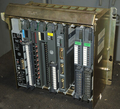 Allen-Bradley 1771-A2B Eight Slot I/0 Chassis - With PLC Inputs and Outputs