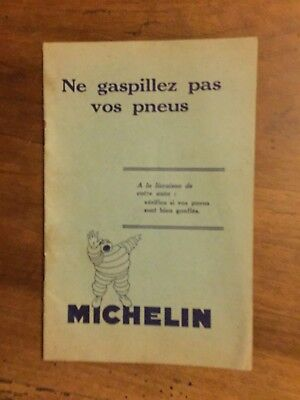 Document Michelin ne gaspillez pas vos pneus 1930