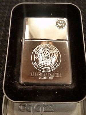 Zippo  Smith & Wesson An American Tradition 250Sw.304 Lighter-New In Tin