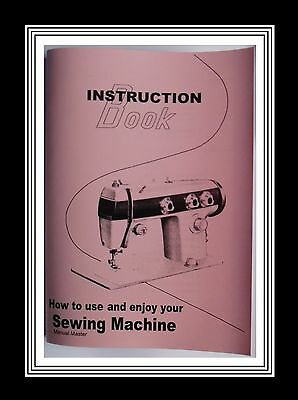 Model 556 Deluxe Jones Brother  sewing machine instruction Manual Booklet