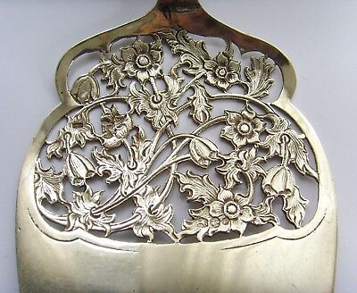 Antique Dutch Solid Silver silver ajour pastry server, Bijkamp * Co from 1950.