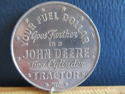 Your Fuel $ Goes Farther In John Deere Two Cylinder Tractor. GOOD LUCK Token