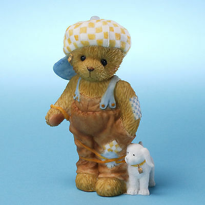Cherished Teddies*BOY BEAR with DOG*New*No One I'd Rather Be Stuck With*4025792