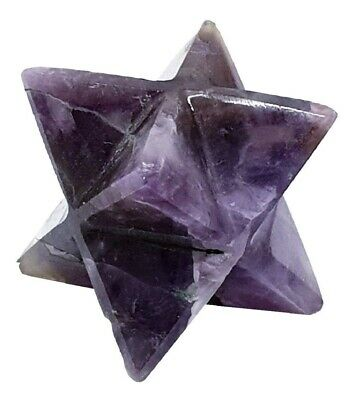 Natural Amethyst Merkaba Star Energy Charged Stops Excesses Confidence Stone
