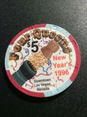Four Queens $5 Casino Chip- 1996 New Years- Free Shipping