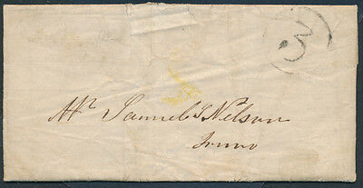 1857 SFL Tatamagouche NS to Truro via Pictou, Unusual '3' Ratestamp