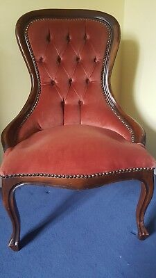Reproduction Victorian Nursing Chair, re-upholstered
