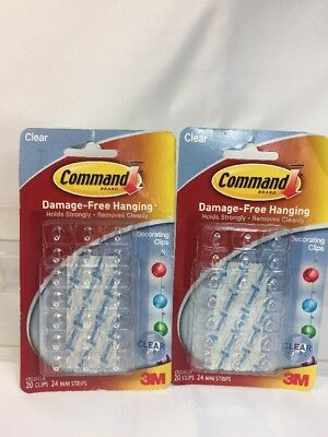 Command Decorating Clips, Clear, 20-Clip, 6-Pack 3M CHIMD 17026CLR