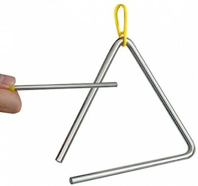TRIXES steel music triangle for school, children, percussion instrument with bar
