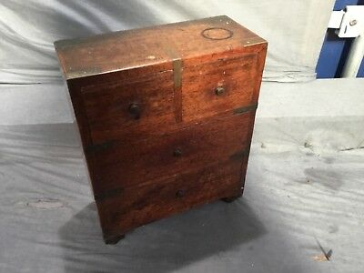 Vintage Or Antique Apprentice Piece Small Chest Of Drawers