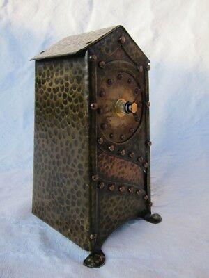 Arts and Crafts copper and brass clock circa 1900