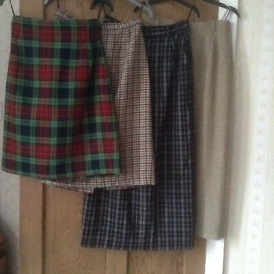 Four Ladies Straight/Pencil Skirts,size 12 By Dorothy Perkins,Gerry Weber,ChaCha