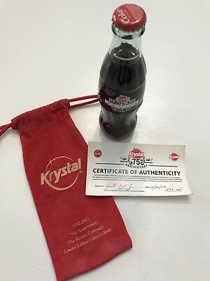 Krystal Hamburgers 75th Anniversary Coca Cola Bottle Signed By CEO Fred Exum