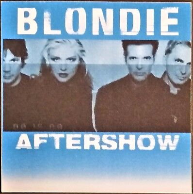 ***** Blondie ***** -- Satin Backstage Pass - After Show - 1999 - No Exit Tour