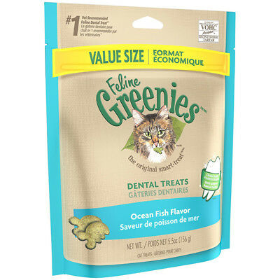 GREENIES - Feline Dental Treats Ocean Fish - 5.5 oz. (156 g)