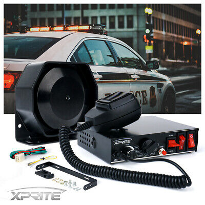Xprite NEW G2 200W Loud Speaker PA Horn Siren with Microphone Police Fire Truck