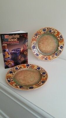 Charlotte Rhead Crown Ducal Vintage Decorative Plates and a Book