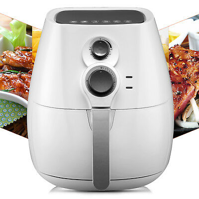 1350W Electric Air Fryer No Oil Temperature Timer Control W/6 Cooking Presets