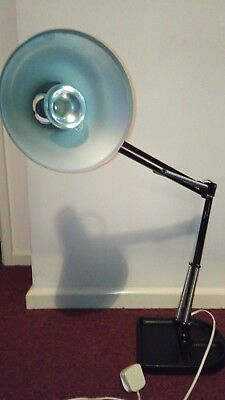 Retro Maxam Black  Light Angle Poise Style Lamp Articulated Industrial Desk Lamp