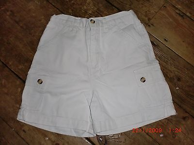 "Vintage 90s Girls White Cotton Shorts  122-128cm. 24""waist. Pristine Condition"