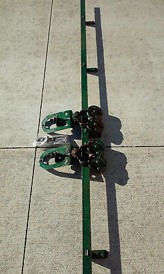 Antique Myers Sure Grip Tandem Barn Door Rollers Pair with 10 Feet of Track