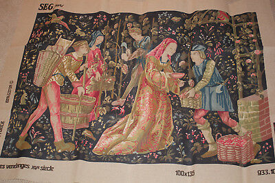 SEG Medieval Tapestry Canvas.'The Harvest' 46X32inch Beautiful tapestry canvas