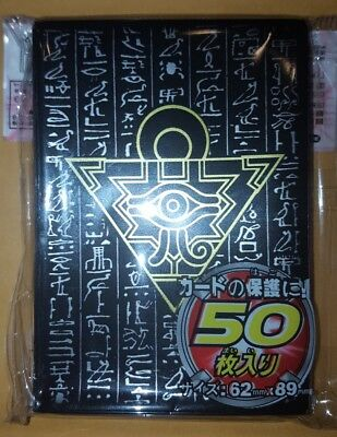 YUGIOH Card Sleeves Millenium Puzzle 50Pcs 63X90mm BLACK