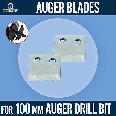 Replacement Blades for 100mm Drill Bit Auger Earth Borer Post Hole Digger