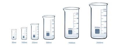 Borosilicate Glass Beakers Laboratory Glassware Beaker Sets Boro 3.3 Tall Form