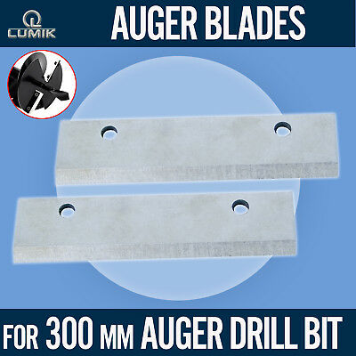 Replacement Blades for 300mm Drill Bit Auger Earth Borer Post Hole Digger