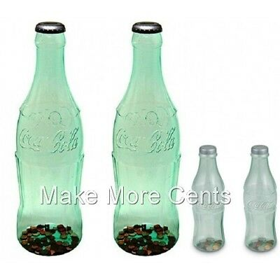 "Coke Coca-Cola Coin Piggy Bottle Banks - 2-Giant 23"" Bottles, 2-11"" Bottles"