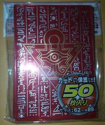 YUGIOH Card Sleeves Millenium Puzzle 50Pcs 62X89mm RED