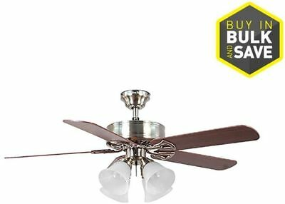 Harbor breeze springfield ii 52 brushed nickel indoor ceiling fan w harbor breeze springfield ii 52 brushed nickel indoor ceiling fan wlight kit aloadofball