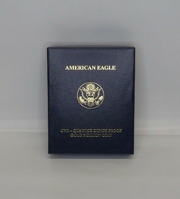 2007 American Eagle Gold Bullion Proof 1/4 Oz Box Only With Papers **no Coin**