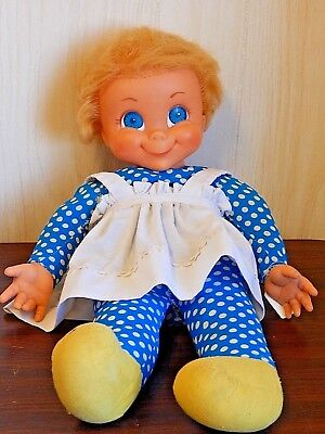 "Well-Loved MUTE Mattel 1967 MRS. BEASLEY 22"" Pull String Talking Doll"