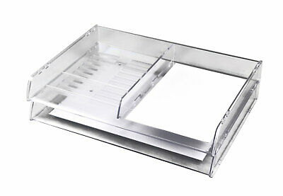 Italplast Document Tray A3 Stack Clear- 3 Pack