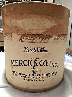 RARE Vintage antique old MERCK advertising pharmaceutical packaging CHEMIST box